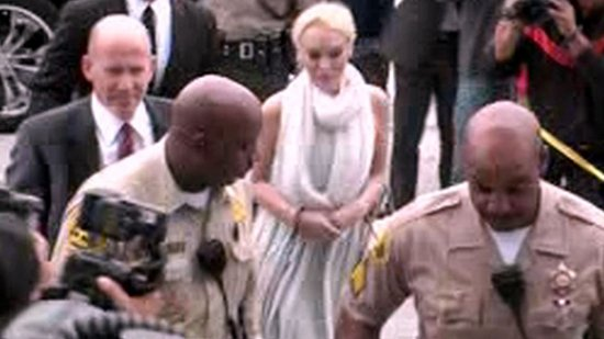 Video: Lindsay Lohan Handcuffed and Held For Violating Her Probation