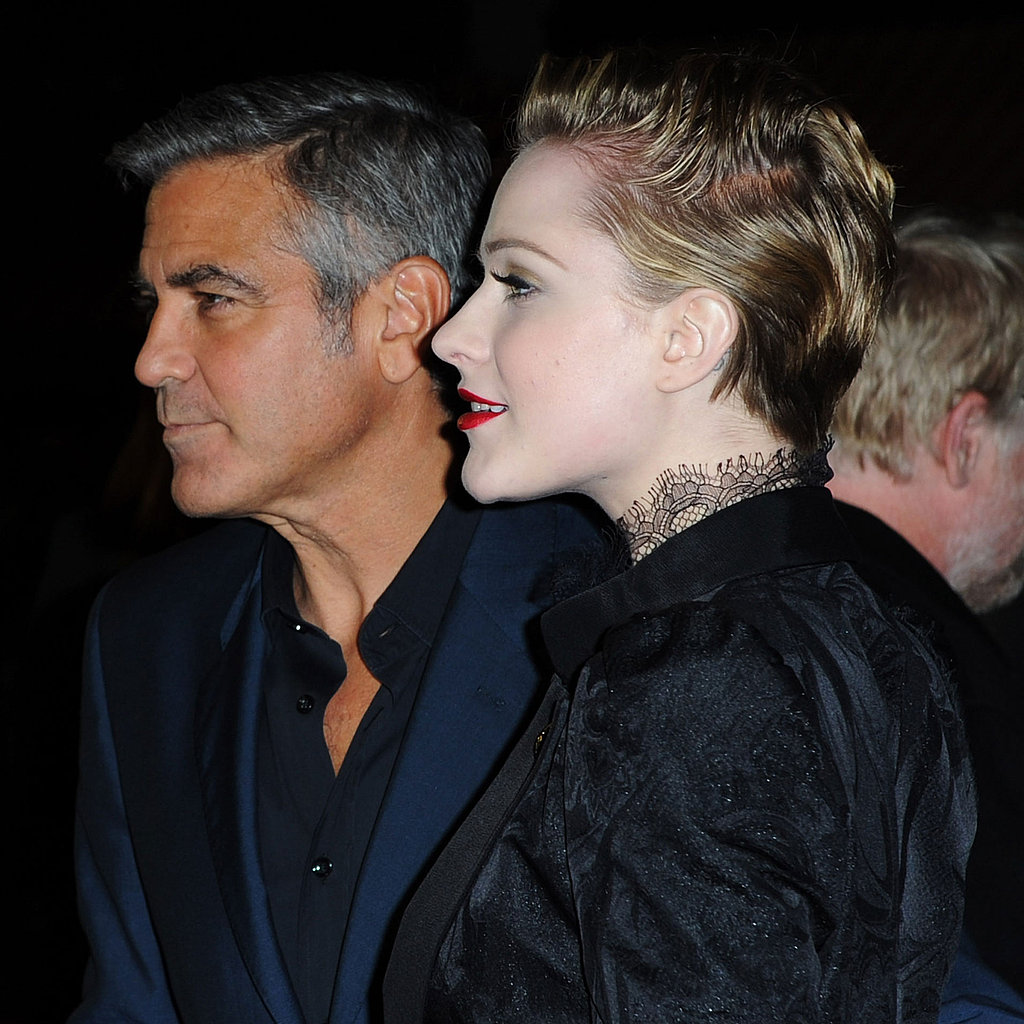 George Clooney & Evan Rachel Wood Premiere in London Pictures