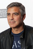 George Clooney in a leather jacket.