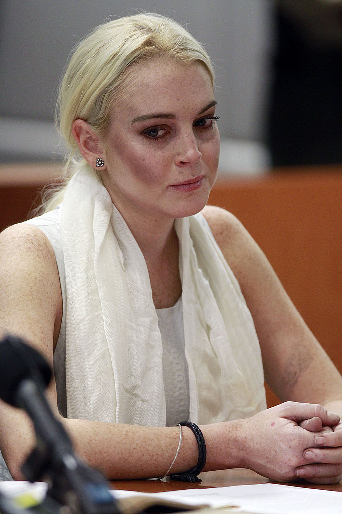 Lindsay Lohan listened to her hearing.