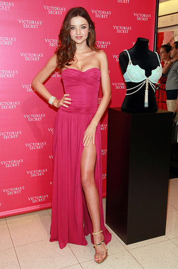 Miranda Kerr Shows Leg and Gives a Sneak Peek at Her $2.5 Million Bra
