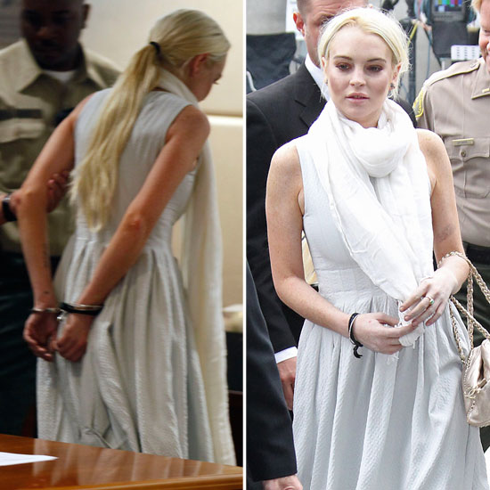 Lindsay Lohan Handcuffed and Detained For Probation Violations