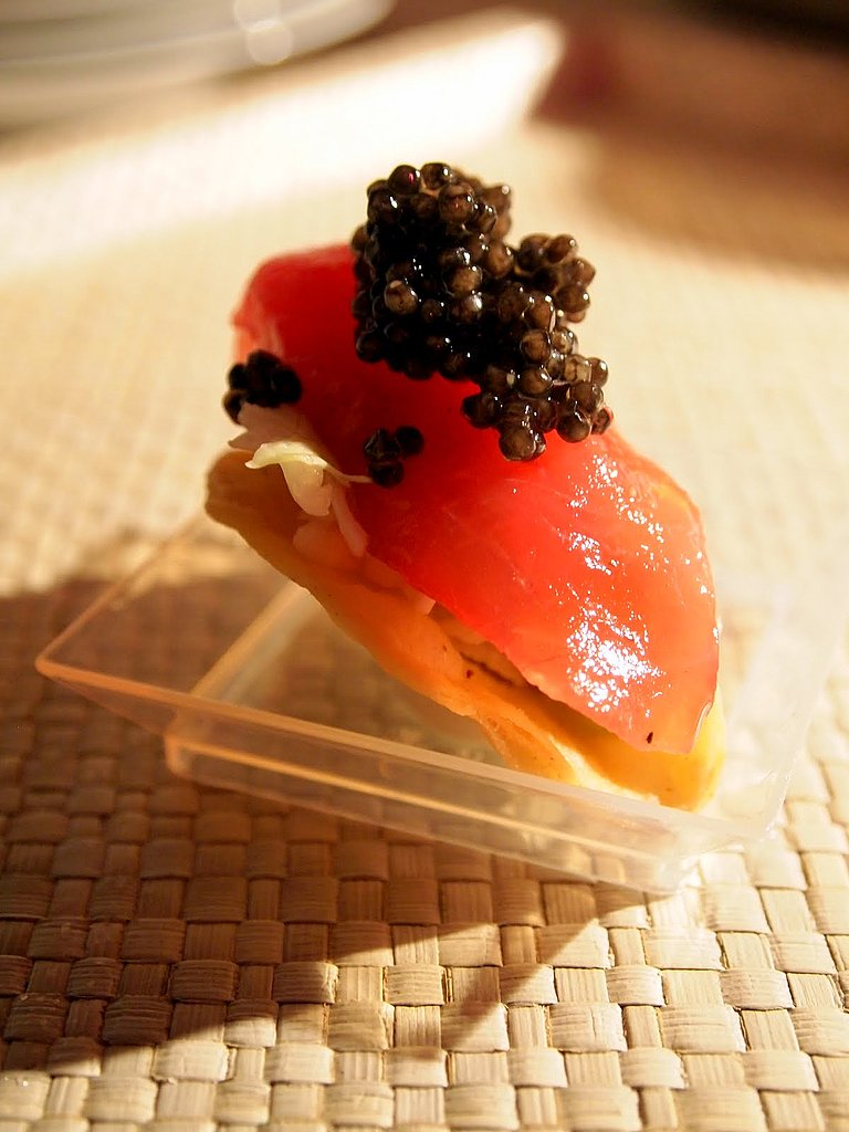Tuna Taco and Caviar