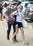 Reese Witherspoon walked Ava Phillippe to their car.