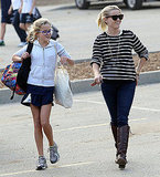 Reese Witherspoon and Ava Phillippe both wore glasses in LA.