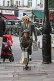 Gwen Stefani leaving a toy store with Kingston in London.