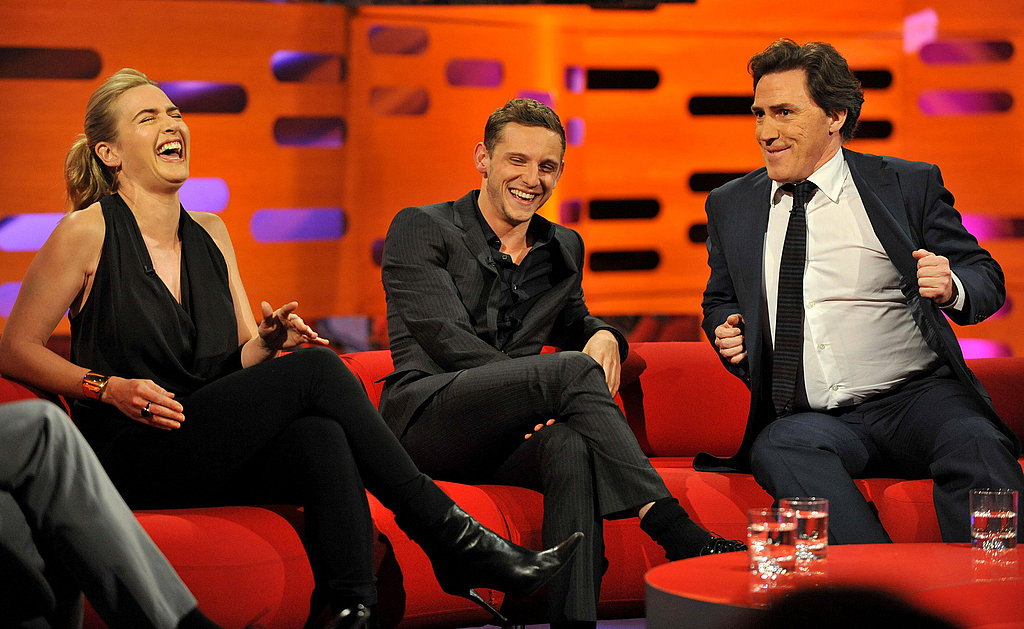 Kate Winslet, Jamie Bell, and Rob Brydon were guests on the Graham Norton Show in London.