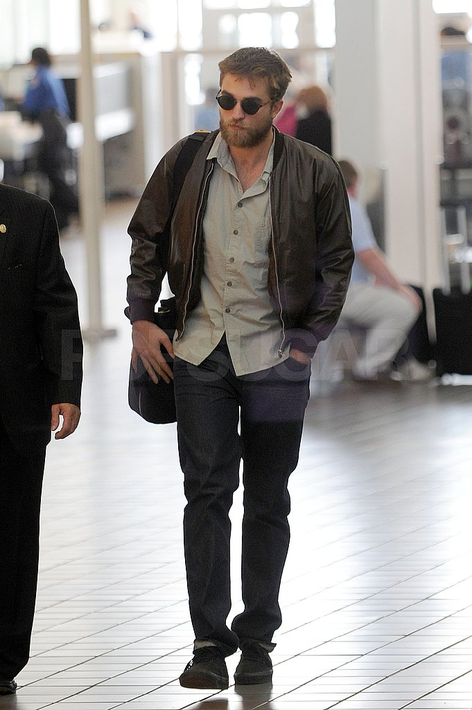 Rob arrived for a flight headed out of LAX.
