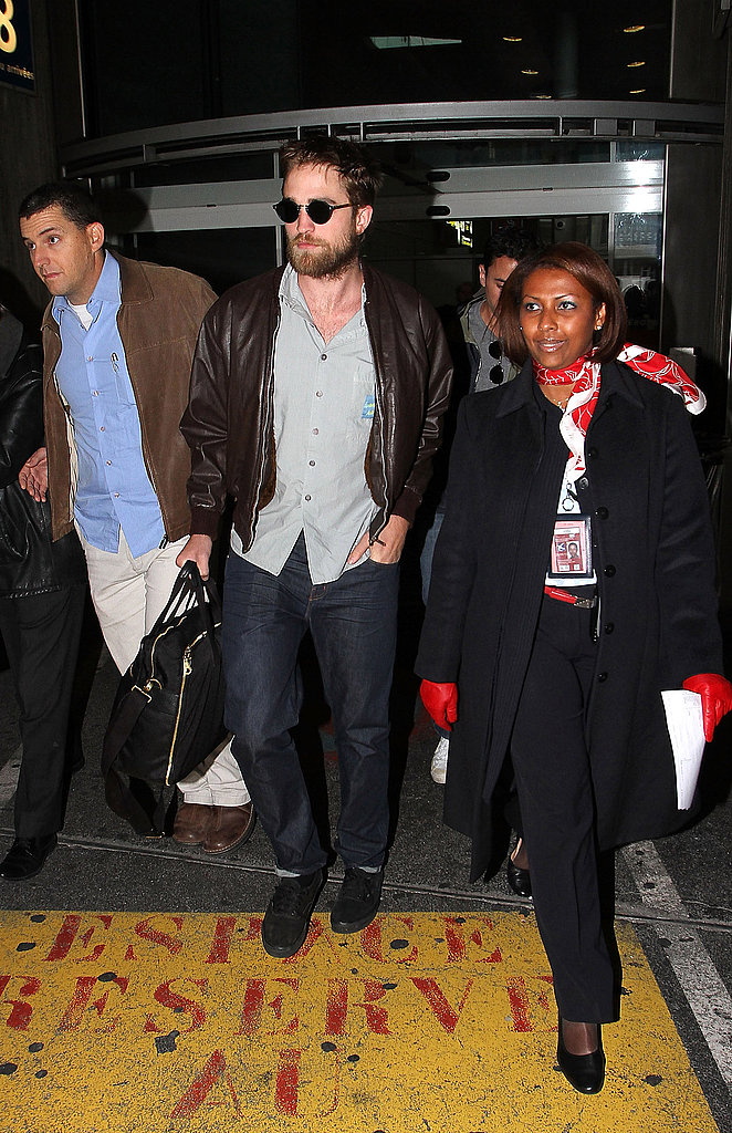 Robert Pattinson with a beard in Paris.