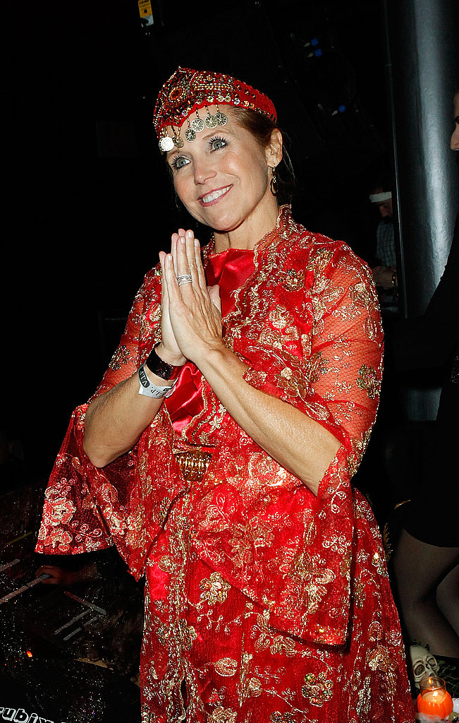Katie Couric dressed up for a 2011 Halloween concert in NYC.