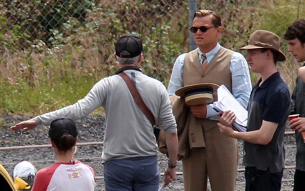 Leonardo DiCaprio on the set of The Great Gatsby in Sydney.