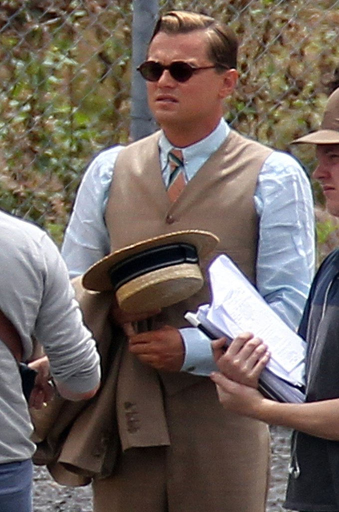Leonardo DiCaprio filming The Great Gatsby in Sydney.