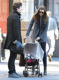 Orlando Bloom and Miranda Kerr with Flynn in NYC.