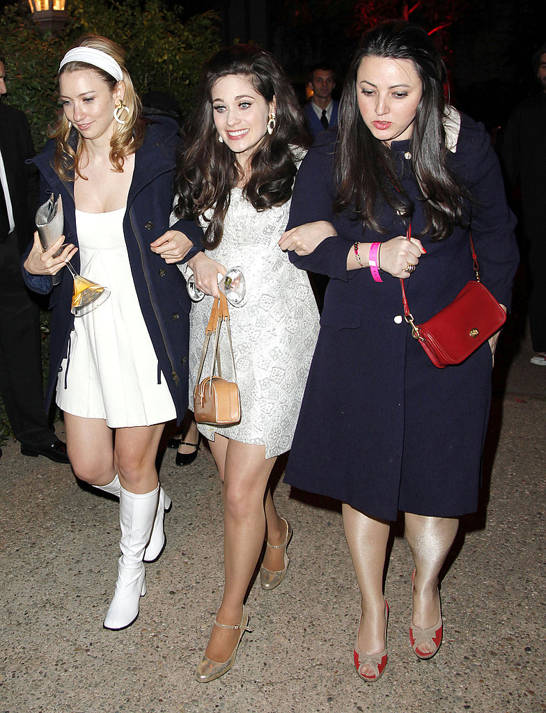 Zooey Deschanel with friends at Kate Hudson's Halloween party.