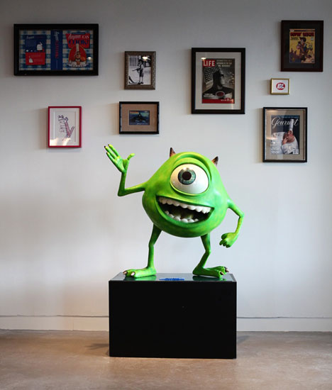 Early employees of Pixar Canada had the lucky task of choosing which characters they'd like to have in the office.   Images courtesy of Pixar