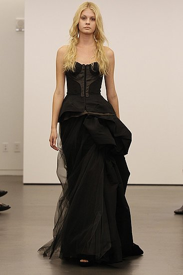 Vera Wang Explains Why She Showed Black Wedding Gowns