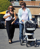 Rodger Berman was on stroller duty while Rachel carried Skyler.
