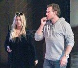 Jessica Simpson and Eric Johnson at dinner in Palm Springs.