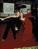 Julia Roberts and her My Best Friend's Wedding costar Cameron Diaz got cheeky at the Golden Globes in 2000.