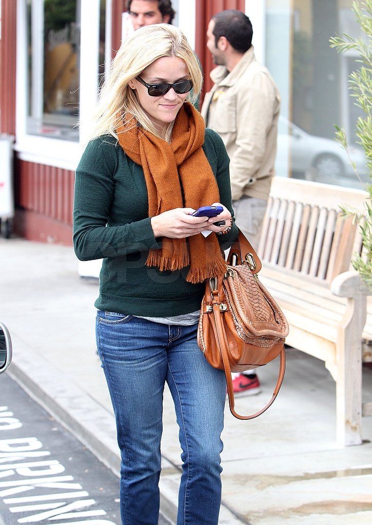 Reese texted while walking.