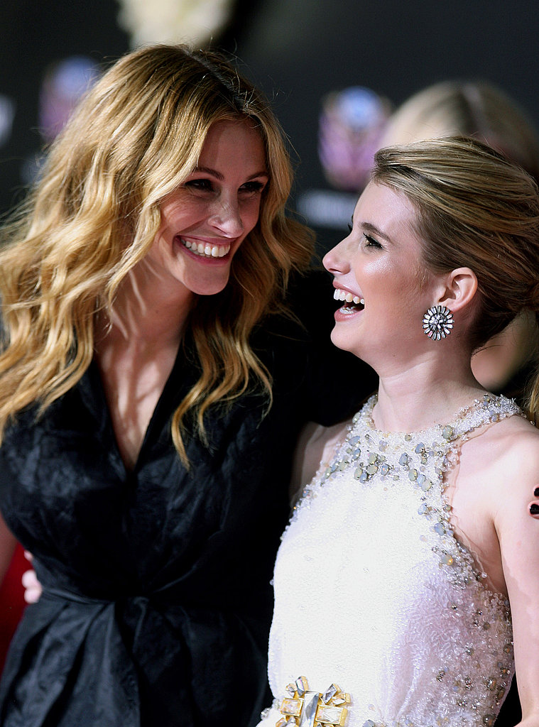 Julia Roberts and niece Emma laughed it up on the red carpet during the Valentine's Day premiere in 2010.