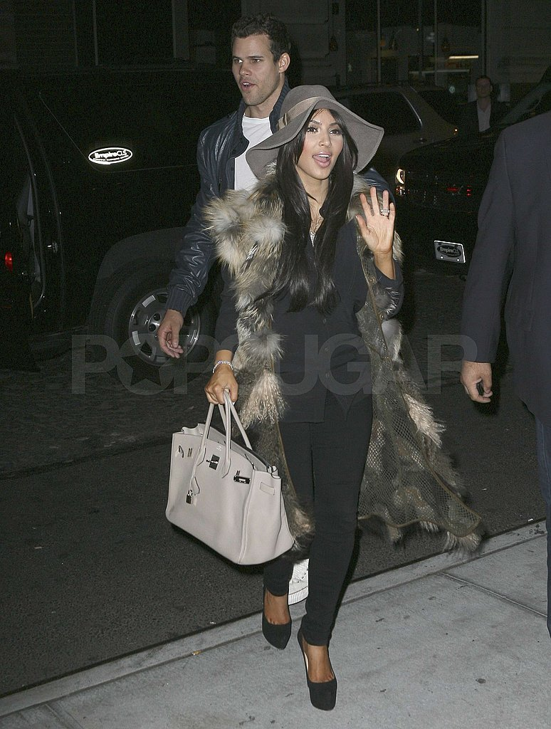 Kris Humphries and Kim Kardashian celebrated her birthday in NYC.