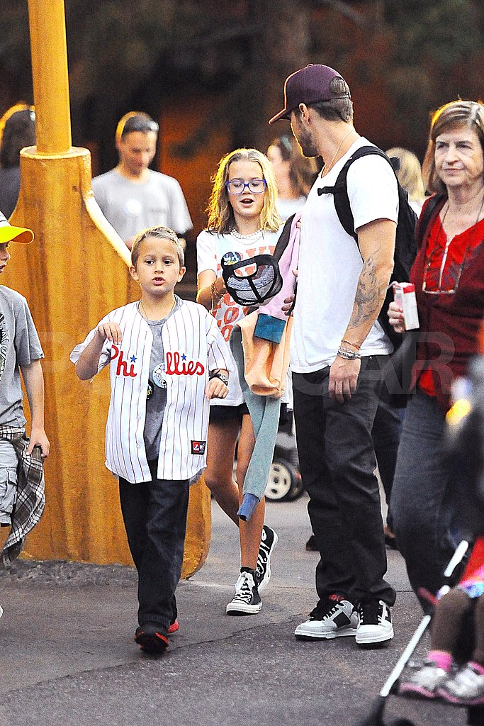 Ryan Phillippe celebrated his son Deacon Phillippe's birthday at Disney with daughter Ava Phillippe.