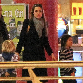 Angelina Jolie Pictures With Shiloh, Zahara, Pax in Hungary