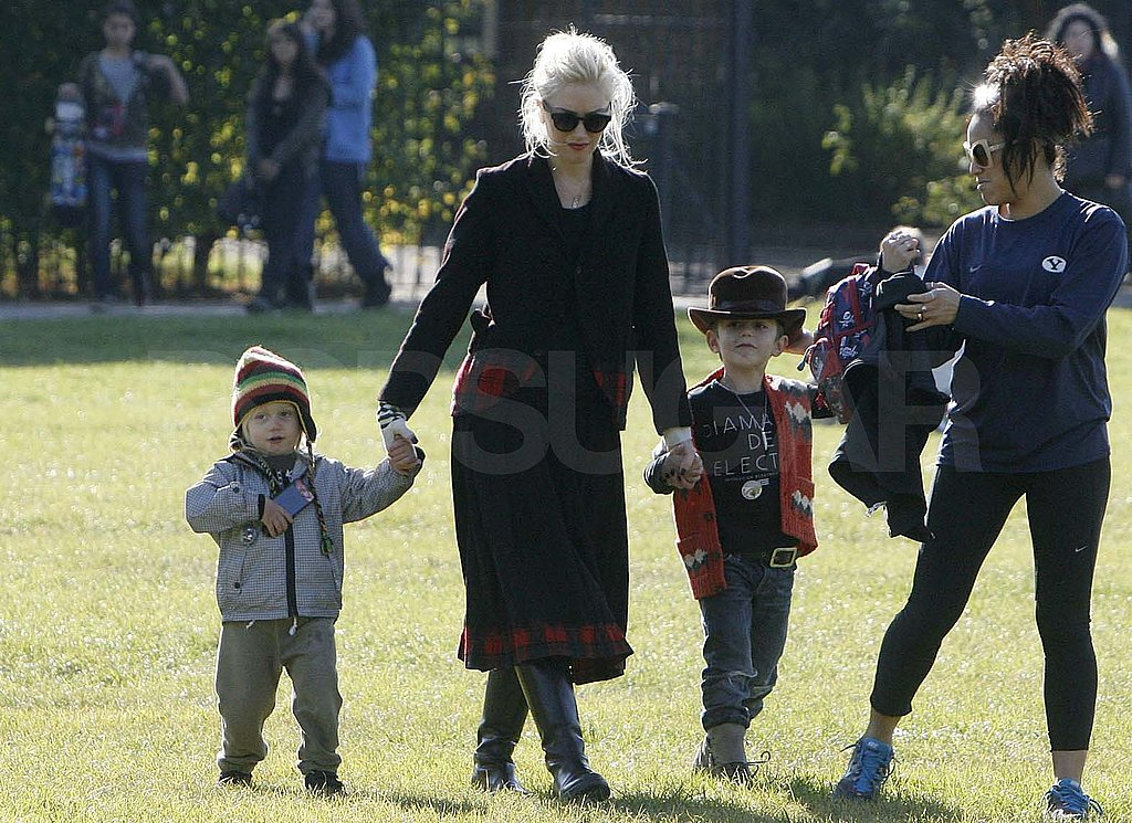 Gwen held hands with Zuma and Kingston.