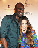 Khloe Kardashian and Lamar Odom looked very in love at the party.