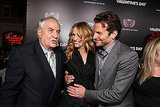 Julia Roberts joked with Garry Marshall and Bradley Cooper at the premiere of Valentine's Day in 2010.