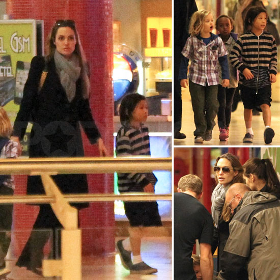 Angelina Jolie Takes Shiloh, Zahara, and Pax Shopping in Hungary