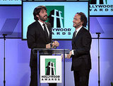 Ben Affleck and Emmanuel Lubezki shared the stage at the 2011 Hollywood Film Awards.