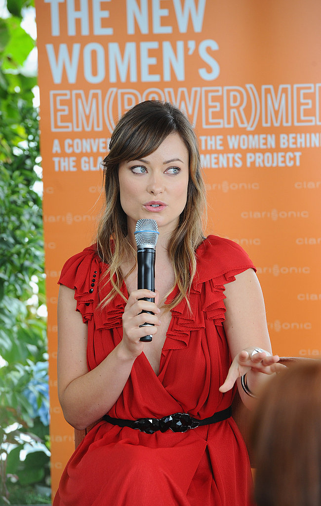 Olivia Wilde spoke at Glamour's The New Em(Power)Ment lunch.