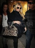 Jessica Simpson kept her sunglasses on at night in NYC.