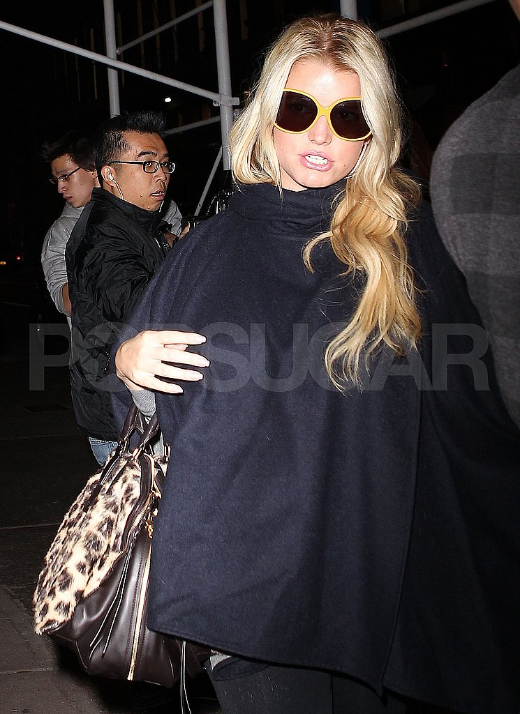 Jessica Simpson made her way out of Bergdorf Goodman in NYC.