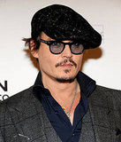 Johnny Depp put a lid on it for the Big Apple event.
