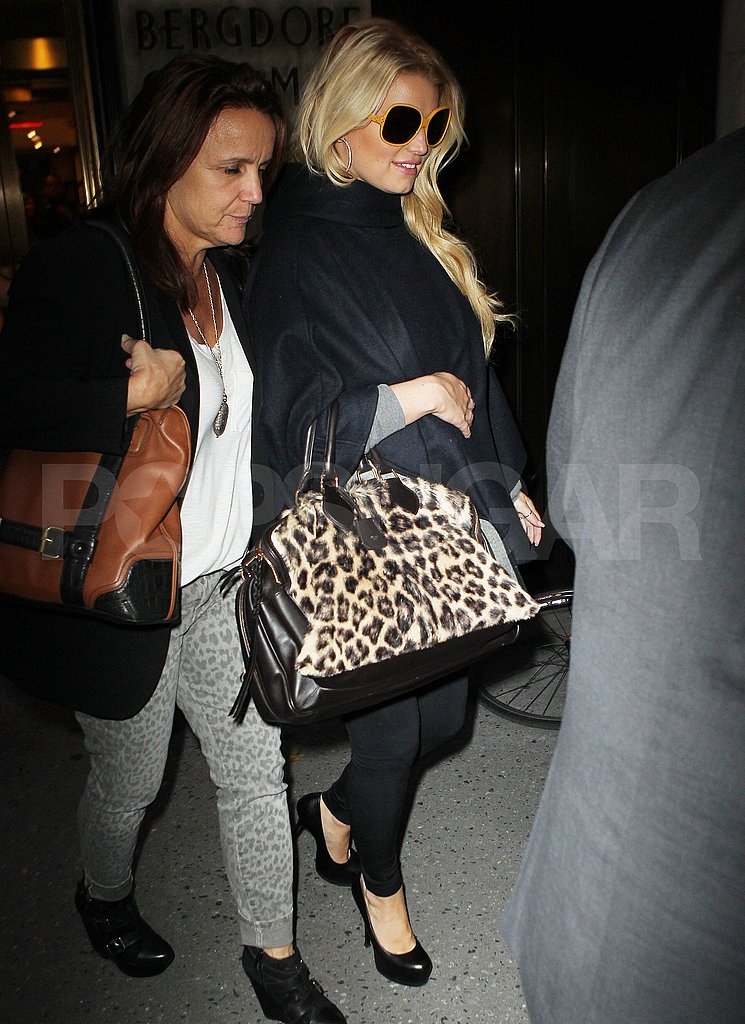 Jessica Simpson and Tina Simpson leaving Bergdorf Goodman.