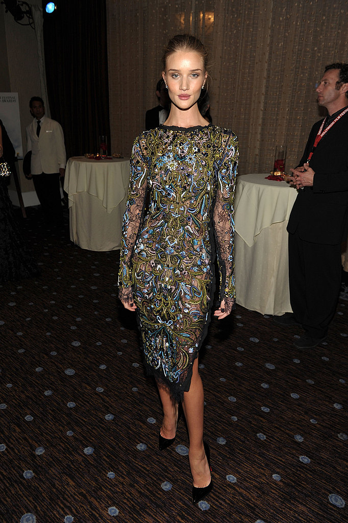 Rosie Huntington-Whiteley posed in Pucci at the Hollywood Film Awards.