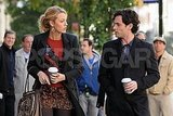 Blake Lively and Penn Badgley filmed scenes for Gossip Girl in NYC.