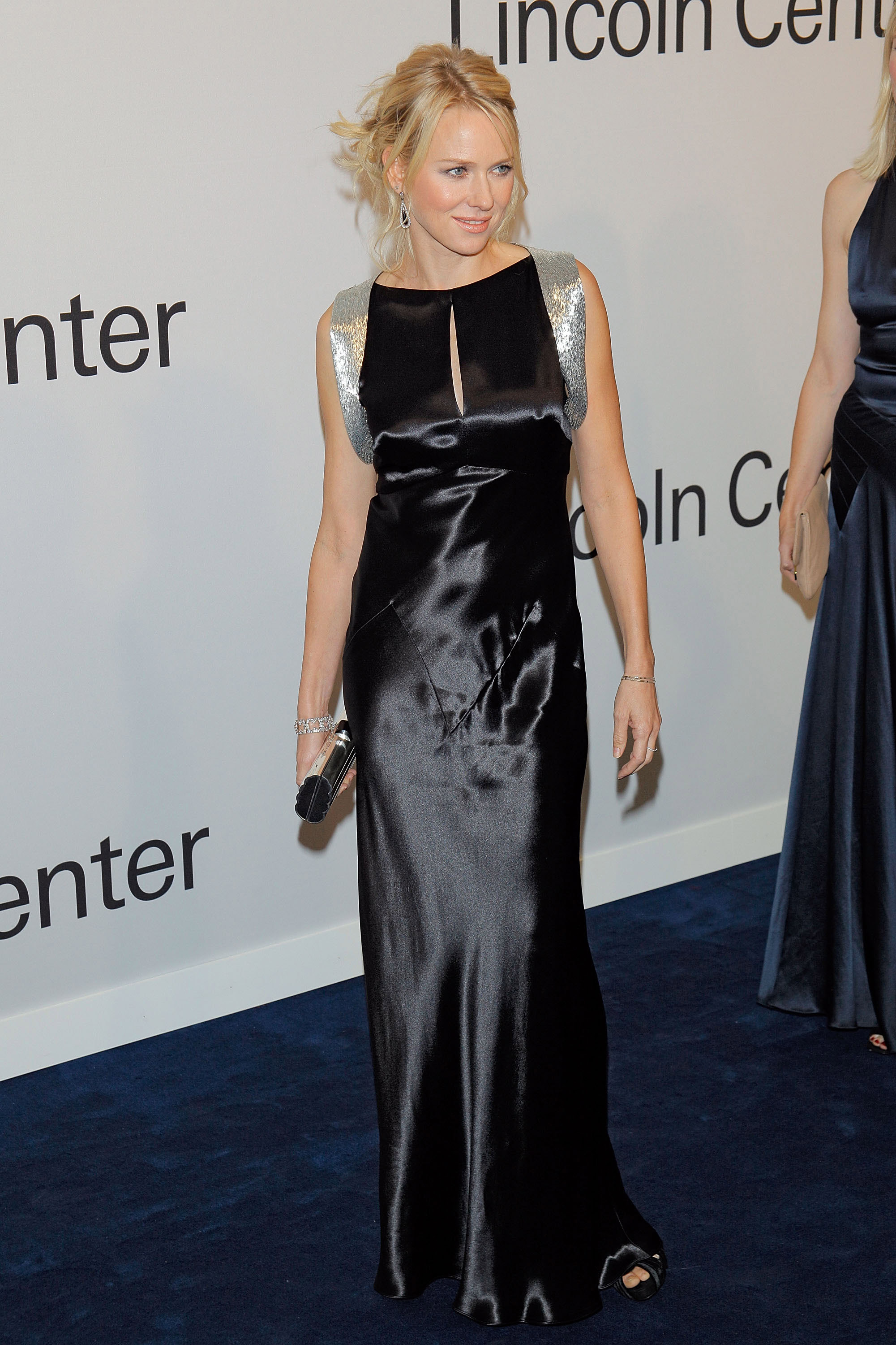 Naomi Watts wore a silk dress to a Ralph Lauren event in NYC.