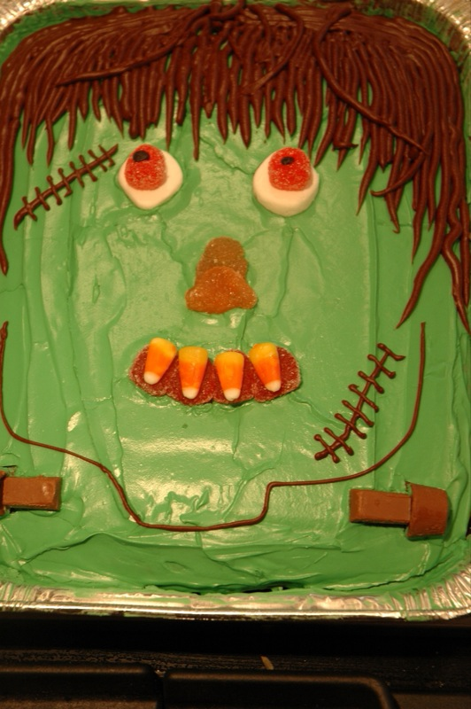 Frankenstein Sheet Cake