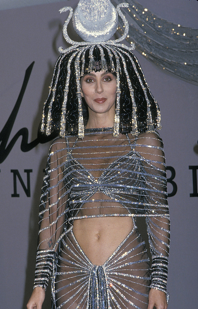 Cher looks regal as ever in her Cleopatra garb at Bob Mackie's 1988 Halloween soiree.