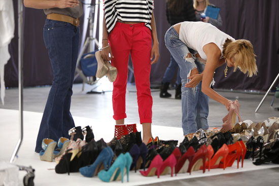 Wardrobe included colorful shoes and outfits.  Photo courtesy of The CW