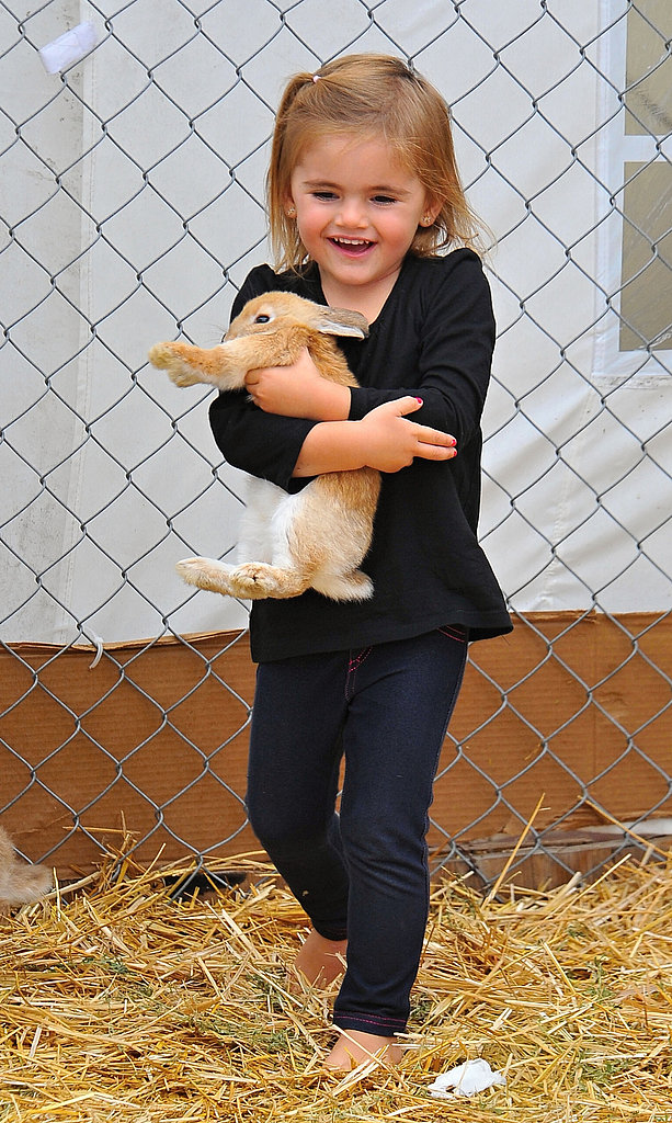 Anja Mazur couldn't stop smiling while holding a bunny.