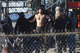 Henry Cavill warmed up in Vancouver after filming shirtless scenes.
