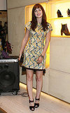 Leighton Meester attended a cocktail at Roger Vivier in NYC.