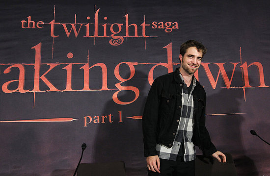 Robert Pattinson for Breaking Dawn in Belgium.
