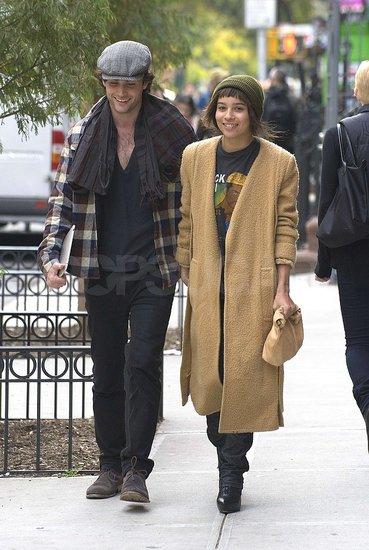 Penn Badgley and Zoe Kravitz Stroll Hand in Hand in NYC