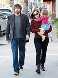 Jennifer Garner and Ben Affleck out in LA with Seraphina.